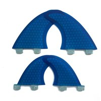 Wholesale pc honeycomb online - Hot Sale Honeycomb Fiberglass Surfboard Fins Quad FCS Base Surf Fin Set