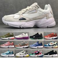 Wholesale orange falcon resale online - designer originals falcon w dad shoes women mens fashion luxury running walking tennis sneakers top high quality chaussures zapatos trainers