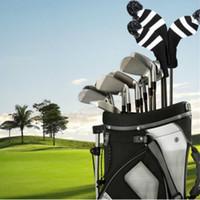 sacapuntas de golf al por mayor-Cross Border ventas calientes del golf cubierta de la cabeza de madera Polo Conjuntos de punto clubes de tres piezas set de golf Headcover Envío gratuito
