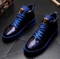 ingrosso scarpa fatta a mano-2019 nuovi uomini mocassini fatti a mano comode scarpe da ballo Quinceanera high-top casual scarpe oxford grandi dimensioni: US 6.5-US9 799