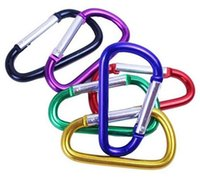 Wholesale rock climbing keyrings resale online - Carabiner Ring Keyrings Key Chains Outdoor Sports Camp Snap Clip Hook Keychain Hiking Aluminum Metal Convenient Hiking Camping Clip On