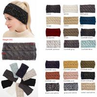 tığ işi saçak toptan satış-Örme Hairband Tığ Kafa Örgü Hairband Isıtıcı Kış Kafa Wrap Tarzı Headwrap Kulak Isıtıcı Şapkalar Kap Saç Aksesuarları GGA1289