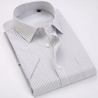 ingrosso twill patch-Camicia formale da uomo a manica corta Tinta unita / Twill / Striped Shirt Patch Camicia a maniche lunghe da lavoro Business Office Basic Camicie da uomo