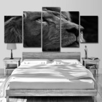 Wholesale tiger pieces art painting pictures resale online - HD Printed Piece Canvas Art Tiger Head Painting Gray Wall Pictures for Living Room Modern
