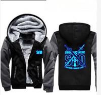 Wholesale art online sao online - winter hoody Sword Art Online SAO Luminous Men women Warm Thicken Hoodies autumn clothes sweatshirts Zipper jacket fleece hoodie streetwear