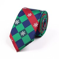 Wholesale best christmas ties for sale - Group buy 2019 hot New Christmas Tie Silk Jacquard cmsnowflakes xmas neck tie Men s Necktie Best Christmas Day Gift for Man