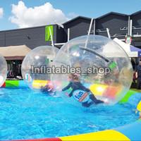 cremallera para bola de agua al por mayor-Popular Water Walk pelota PVC marca TIZIP Cremallera inflable agua caminando baile bola transparente agua zorb ball