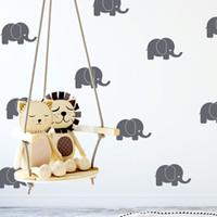 decoración moderna de la habitación del bebé al por mayor-Elefantes modernos Babys decoración de la habitación decoración del hogar accesorios para la habitación de los niños Baby Nursery Decor Art