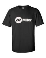 soldadura de homem venda por atacado-Miller Soldador T-Shirts Decalques Adesivos Peças Regulador de Fio Luvas de Solda Carrinho de Camiseta Dos Homens do Homem Geek Branco de Manga Curta Personalizado Tamanho Grande