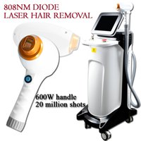 Wholesale laser hair removal handles resale online - 808nm hair removal W high power laser handle with million shots diode laser hair machine