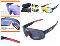 4ccfe5400df8 Poc Polarized Sports Cycling Glasses Sunglasses with 5 Interchangeable  Lenses for Men Women Cycle Bicycle Running Fishing Driving Golf Sun