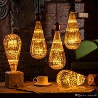 Wholesale edison decor bulb for sale - Group buy Led bulb E27 Zucchini Starry Sky Lamp V Dimmable lampada Led For home Living room bedroom Christmas Decor W Retro ampul