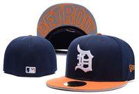 ingrosso cappelli di bambù di snapback-Cappellino aderente Cappello da baseball Cappello da baseball Tigers Cappellino Baseball Ricamato Team Tettuccio da baseball per adulto Taglie forti