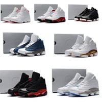 botas rojas de niña al por mayor-Nike air jordan 13 retro  Barato niños 13s zapatos bajos de baloncesto negro naranja rojo terracota niños niñas Jóvenes niños J13 jumpman 13 XIII zapatillas bebé bota