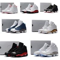 ingrosso scarpe in camoscio nero della neonata-Nike air jordan 13 retro  Scarpe da basket economiche per bambini 13s nero arancio rosso terracotta ragazzi ragazze Youth kids J13 jumpman 13 XIII sneakers baby boot