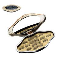 cils amincissants achat en gros de-Maquillage en vison magnétique 3D cils magnétiques aimant faux cils Dual Triple aimant cils ultra minces réutilisables faux cils NO COLLE