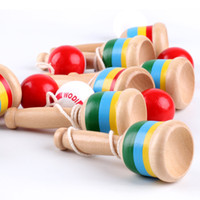 Wholesale kids sword games resale online - Kids Wooden Toys Coordination Sword Juggling Ball Kendama Cup and Ball Games Educational Outdoor Funny Toys for Children Gifts