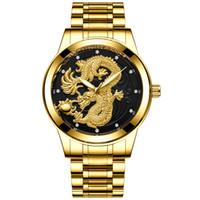 мужские часы из нержавеющей стали фарфор оптовых-Мужские и женские часы China Dragon и Phoenix из нержавеющей стали Кварцевые часы Секундомер Top Brand Re-Best Gift