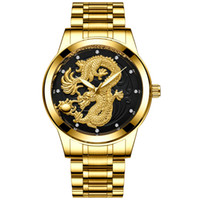 Wholesale best china watches for sale - Group buy Men s and Women s China Dragon and Phoenix Watch Stainless Steel Quartz Watch Stopwatch Watch Top Brand Re Best Gift