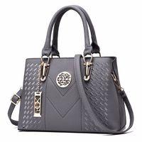 Wholesale metal handles for handbags resale online - Embroidery Messenger Bags Women Leather Handbags Bags for Women Sac a Main Ladies Hand Bag