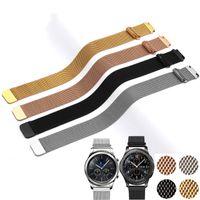 aktiver gang großhandel-20mm 22mm band für samsung galaxy watch active 42mm 46mm getriebe sport s2 s3 mailänder schleife für amazfit bip 18mm huawei watch1 strap