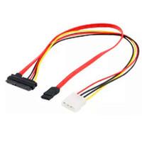 masaüstü için sabit disk toptan satış-5 adet Güç Konektörü 4-pin IDE + SATA Transferi Sürücü Sabit Disk Veri Kablosu Güç Hattı Masaüstü Bilgisayar Için 7 +15 P Hattı G35