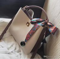 Wholesale scarves yellow free shipping resale online - 2017 New Women Bags Fashion Bucket Bag Designer Handbag Casual Scarf hand Shoulder Messenger Bag retail