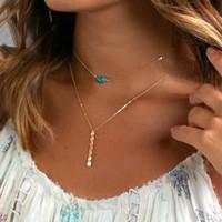 Wholesale bar bijoux for sale - Group buy 2018 boho Multi Women Bar beads stone Charm Choker Necklace chocker Jewelry collana Bijoux Femme Joyas mujer Collier ras du cou