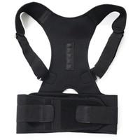 omuz destek kemeri kadınlar toptan satış-Manyetik Terapi Vücut Duruş Düzeltici Brace Omuz Sırt Desteği Kemer Erkekler Kadınlar için Braces Kemer Omuz Duruş Destekler