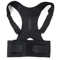 ceinture épaule femmes achat en gros de-Thérapie magnétique Correcteur de posture Brace Shoulder Back Support Ceinture pour hommes Femmes Braces Supports Ceinture Posture de l'épaule