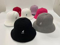 Wholesale pink hats for sale - Group buy Men s designer Kangaroo kangol towel cloth fisherman hat pot cap good quality