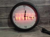 Wholesale tattoo neon signs resale online - 0B550 Tattoo Shop Bar Pub Art Piercing APP RGB LED Neon Light Signs Wall Clock