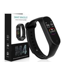 répondre aux bracelets intelligents achat en gros de-M4 Bracelet intelligent Blood Pressure Monitor Sport intelligent Wristband Smartband Fitness Tracker Regarder avec le paquet détail
