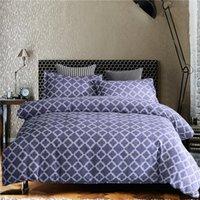 Wholesale linen bedding sale resale online - HM Life Hot Sale Bedding Set Duvet Cover Sets Geometric Printed Simple Style Colors Comfortable Comforter Bed Linens