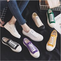 Wholesale korean canvas shoes for women resale online - Spring and Autumn New Canvas Shoes for Men and Women Korean Edition Personality Trend Couple Leisure Shoes for Students Size Canvas Sh