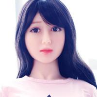 aufblasbare volle puppen großhandel-Aufblasbare halbfeste Silikon-Puppe japanische erwachsene Geschlechtspuppen mit schönen Gesicht in vollen Größe Liebespuppen mit echten festen Silikongeschlechtspuppen