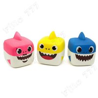 Wholesale funny adult gadgets for sale - Group buy Lovely Baby Shark Squishy Cute animals Slow Rising anti stress Squeeze toy Squishy shark for Kids adults funny gadgets