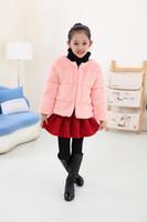 школьная одежда для девочек оптовых-Winter coat for girls school Pink faux fur coat for babies children fur jackets Kids  baby clothes Windbreaker F13