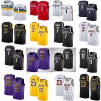 ingrosso pallacanestro jersey durant-Maglie Kevin 7 Durant Kyrie NCAA 11 Irving uomo LA LeBron 23 James Anthony 3 Davis 1 Zion Williamson Maglie basket basket