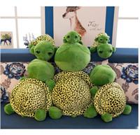 kaplumbağa oyuncakları hediye toptan satış-Sevimli büyük gözler kaplumbağa bebek kaplumbağa peluş oyuncak yaratıcı karikatür kaplumbağa heykelcik Doldurulmuş Hayvanlar oyuncak animasyon Noel hediyesi toptan