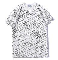 beden durumu toptan satış-Avrupa ve Amerika Birleşik Devletleri bahar ve yaz yeni bayanlar kısa kollu tam vücut mektubu baskı yuvarlak boyun T-Shirt erkekler ve kadınlar için