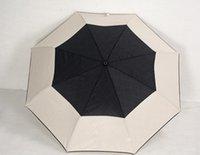 зонтичные сумки оптовых-роскошный классический узор Камелия цветок логотип Зонтик для женщин 3 раза роскошный зонтик с подарочной коробке и сумке дождь зонтик KKA2587