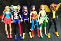 nouvelle figure filles achat en gros de-2017 Nouveau 6 pcs Dc Super Héros Filles Batgirl Poison Ivy Bumble Bee Harley Quinn Action Figure Poupée Jouet