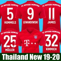 dfe702dd9 Top Thailand Bayern Munich JAMES RODRIGUEZ Soccer jersey 2018 2019 2020  LEWANDOWSKI MULLER KIMMICH jersey 18 19 20 HUMMELS Football shirt