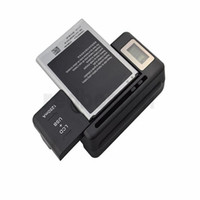 Wholesale motorola lcd for sale - Group buy Intelligent LCD Indicator battery Charger For samsung GALAXY S4 I9500 S3 I9300 NOTE S5 with usb output charge US PLUG