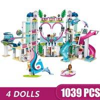 ingrosso toy lego-1039PCS Piccoli giocattoli di costruzione compatibile con Lego Heartlake City Resort Regalo per ragazze ragazzi bambini fai da te