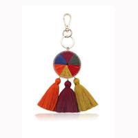 женские сумки ручной работы оптовых-1 Pcs Handmade Colorful Tassel KeyChains Key Ring Bag Hanging Key Chains for Women Girls Bohemian Jewelry