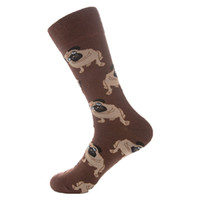 забавные рождественские носки оптовых-Colorful Cotton Men Socks Funny Dog Printing Chili Skate Harajuku Happy Socks Autumn Winter Keep Warm Sock For Christmas Gift 90