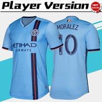 camisa de futebol new york venda por atacado-Versão do jogador de MLS New York City em casa camisa de futebol 2019 camisa de futebol do FC de cidade de NY azul 19/20 jogador versão casa uniformes de futebol para adultos