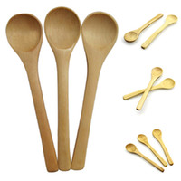 Wholesale kids cooking tools for sale - Group buy Wooden Spoons Tea Coffee Milk Honey Tableware Condiment Utensil Cooking Sugar Salt Small Spoons Kids Ice Cream Tableware Tool